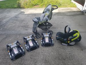 CHICCO Cortina Keyfit carseat and 3 bases for Sale in Orlando, FL