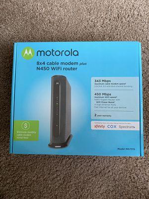 Motorola Cable Modem & Wifi Router for Sale in Bellevue, WA