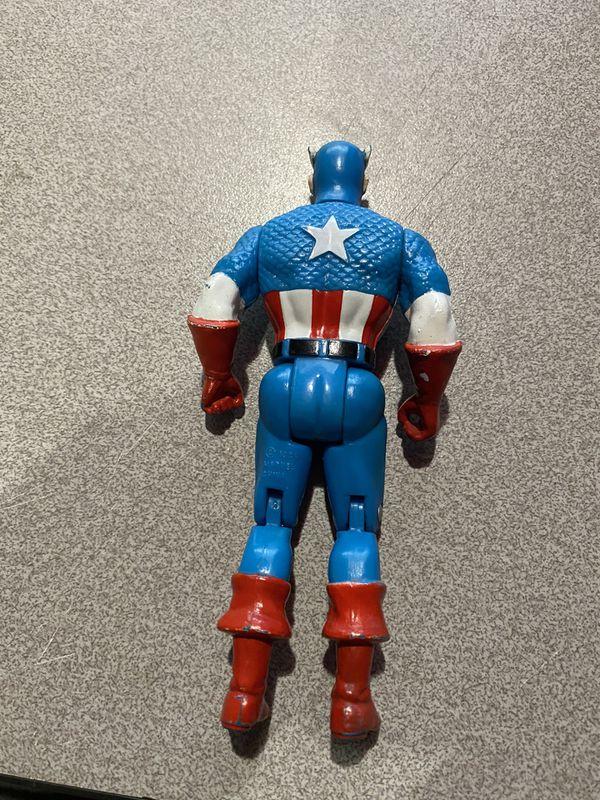 Vintage Toy Biz Captain America Action Figure Marvel Avengers Superheroes 1990