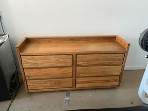 Big wooden dresser for Sale in Tempe, AZ