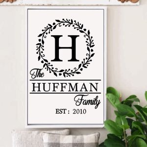 Monogram Family Name Sign for Sale in Vernon Hills, IL