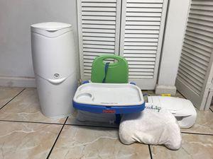 Baby items diaper genie portable floor high chair wipe warmer baby pillow newborn baby items for Sale in Riviera Beach, FL