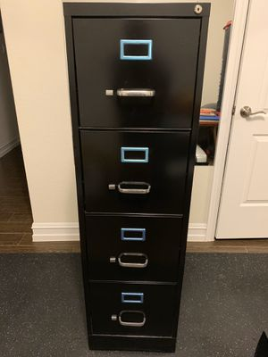 Black filing cabinet- like new! for Sale in Argyle, TX