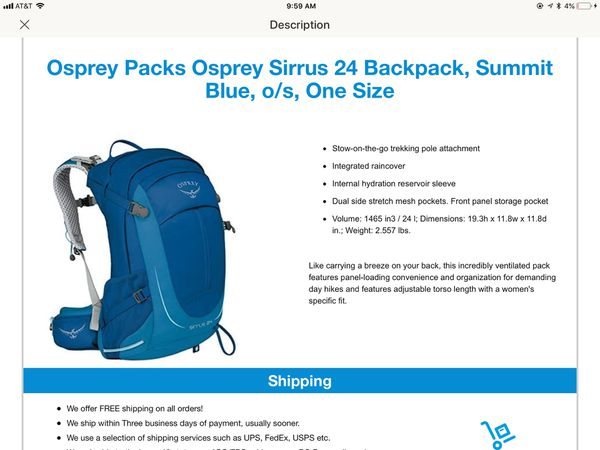 Osprey backpack New