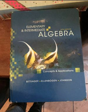 Elementary and intermediate Algebra fifth edition for Sale in Los Angeles, CA