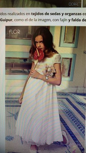 Spanish dress for a 8-10 years old girl used twice. Perfect for flower girl or first communion. I paid $220 I am asking $130 for Sale in San Diego, CA