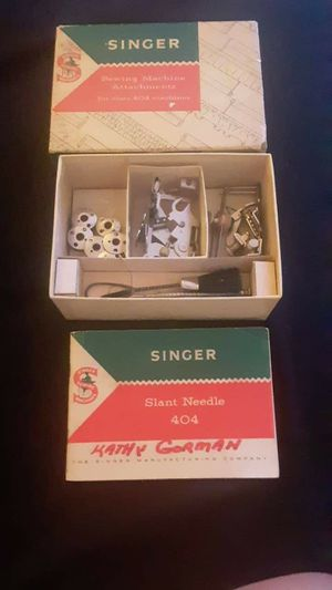 Singer sewing machine attachments for class 404 machines for Sale in Avon Park, FL
