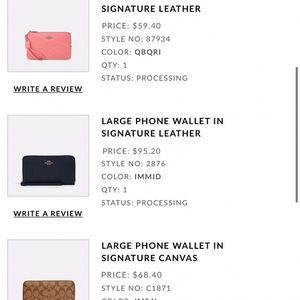 NEW AUTHENTIC coach Wallets for Sale in Westley, CA