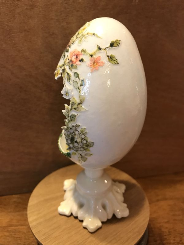 Gorgeous!! Painted Handmade Goose Egg