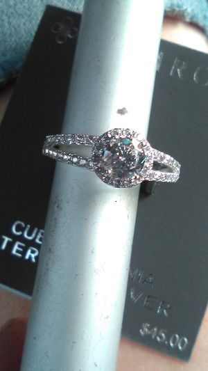 Cubic zirconia sterling silver ring for Sale in Stockton, CA
