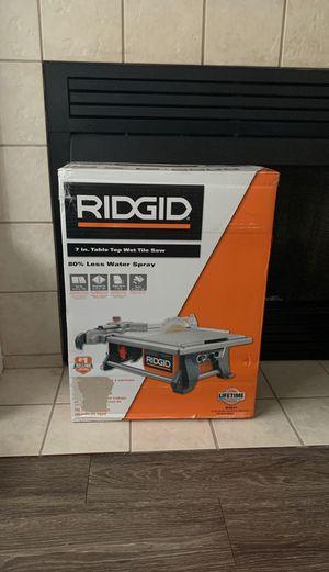 Ridgid 7 in Table Top Wet Tile Saw for Sale in Leesburg, VA