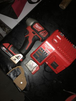 Milwaukee impact driver drill charger batery for Sale in Los Angeles, CA