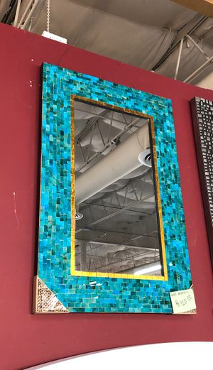 Teal wall mirror for Sale in Coppell, TX