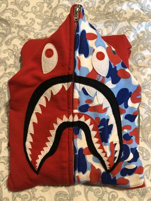 Red Paris Camo Bape Hoodie (SIZE LARGE) for Sale in Everett, WA