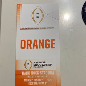 2021 CFP Championship Parking Pass for Sale in Fort Lauderdale, FL