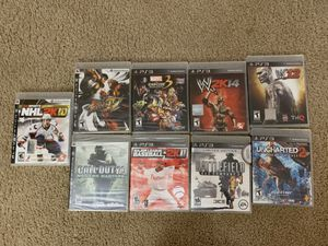 Playstation 3 PS3 Lot COD, Sports, Video Games (swipe pictures) for Sale in Los Angeles, CA
