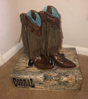 Corral fringe boots for Sale in Houston, TX