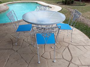 Wrought Iron Patio Dining Set for Sale in Dallas, TX