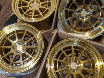 4 New 18x9.5 Aodhan 5x100 Wheels Rims Gold for Sale in Laurel,  MD