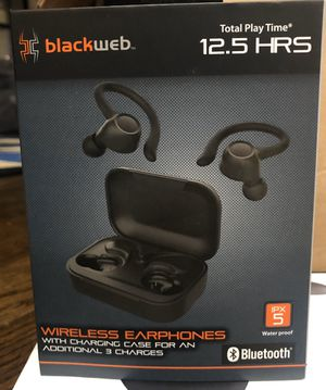 Blackweb True Wireless Bluetooth Earbuds Black over 100 in stock for Sale in Stockbridge, GA