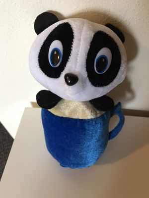 NEW panda bear in a mug stuffed animal plush stuffie toy pet friend ty for Sale in Seattle, WA