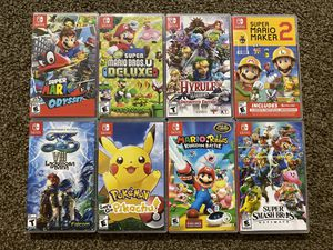 Nintendo Switch Games $39 EACH for Sale in Bremerton, WA