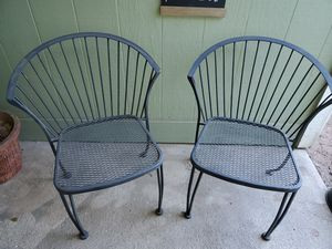 Black Rod Iron 2 Chairs for Sale in Oceano, CA
