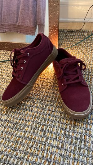 Burgundy red vans shoes size 7 (in women's) for Sale in Honolulu, HI