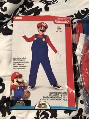 New MARIO Halloween Costume Boys M (7-8) for Sale in Raleigh, NC