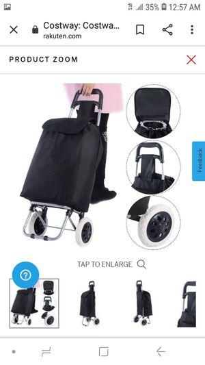 lightweight wheeled trolley push cart bag for Sale in Fontana, CA