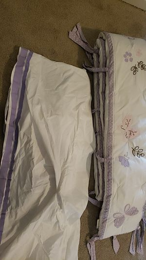 Pottery Barn Kids butterfly baby bumper and crib skirt for Sale in Lebanon, TN