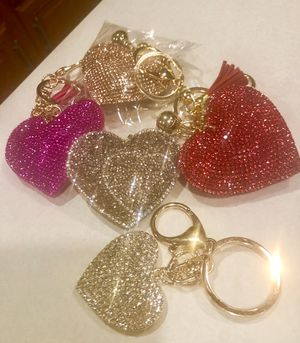 SPARKLY VALENTINE HEARTS GIFT ORNAMENT BAG ID TAG for Sale in Macomb, MI