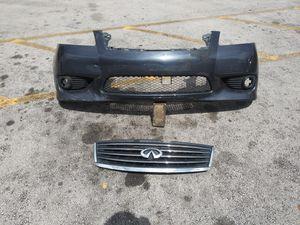 Front Bumper Cover Parrachoque Defensa Grille fits 08 09 10 Infiniti M35 M45 for Sale in Miami, FL