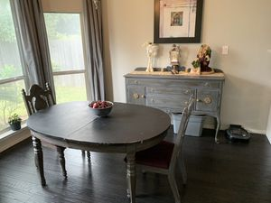 Cute shabby chic breakfast table and buffet for Sale in Austin, TX