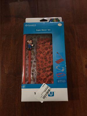 PowerA Official Nintendo Wii-U SUPER MARIO KIT 4-Piece Bundle Bumper Stylus Case for Sale in Walnut, CA