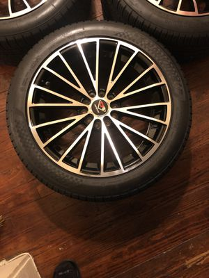 "Ocenti Racing Rims and NanKang 18 "" Rims and Tires ( 4). Located in Baton Rouge . Barely used . Excellent condition . for Sale in Baton Rouge, LA"