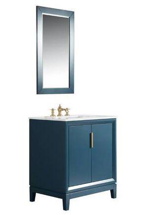 Elizabeth 30 in. Bath Vanity in Monarch Blue with Carrara White Marble for Sale in Sunbury, OH