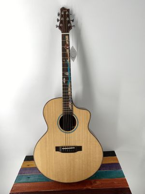 Acoustic Guitar Luxars LX-R1 Acoustic Guitar Cutaway Solid Top Mural Inlay High Quality Killer Price Free Deluxe Gigbag for Sale in Winchester, CA