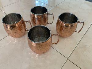 Copper Mugs - Set of 4 for Sale in Boston, MA