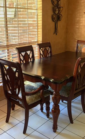 Wood Dining Table and Chairs for Sale in Houston, TX