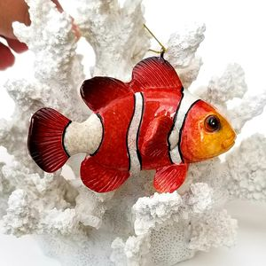 "CHRISTMAS IN JULY SPECIAL! Brand New! Pair (2) 3 3/4"" Clown Fish Ornaments Coastal Nautical SHIPPING for Sale in Miami, FL"