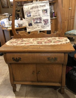 Antique oak farm house cabinet for Sale in Huffman, TX