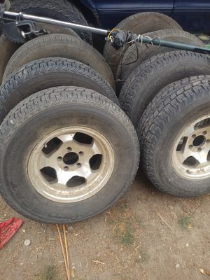 Studded tires and wheels 5 lug for Sale in Wenatchee, WA
