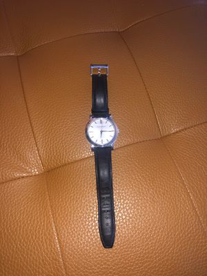 Burberry Watch (Black Leather) for Sale in Commerce Charter Township, MI