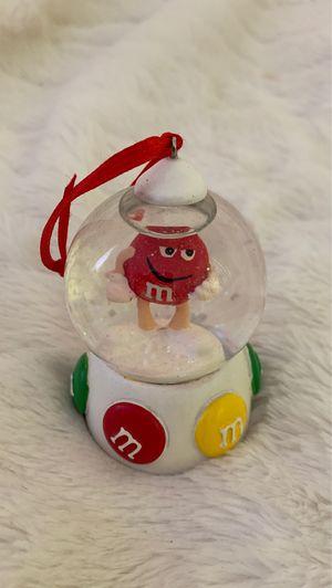 Rare Mars Candy M&Ms Christmas Ornament Snowglobe for Sale in Manassas, VA