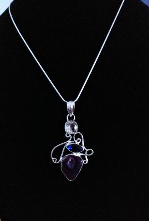Sterling silver 925 marked beautiful amethyst quartz necklace. Brand new for Sale in Panama City Beach, FL
