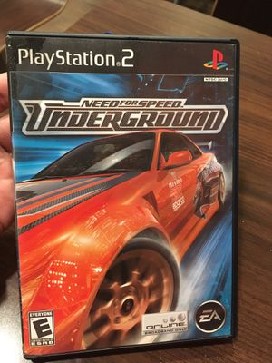 Need for speed underground PS2 for Sale in Washington, DC