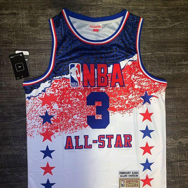 NBA all star retro iverson jersey