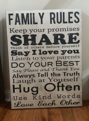 Wall decor - family sign for Sale in Jeannette, PA