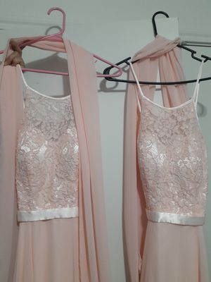 2 formal light peach prom dress etc for Sale in Georgetown, TX